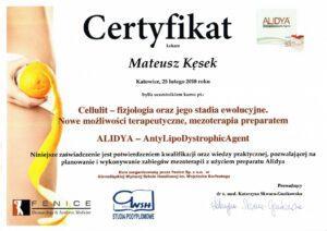MK Aesthetic Med Clinic - Certyfikaty